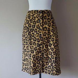 Ralph Lauren Size 12 Leopard Print Skirt